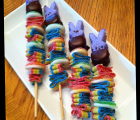 12 Easter Candy Kabobs